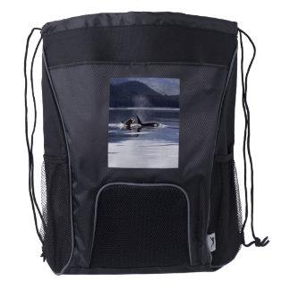 Killer Whales Drawstring Backpack