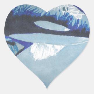 Killer Whales Heart Sticker