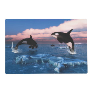 Killer Whales In The Arctic Ocean Placemat