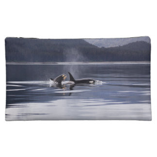 Killer Whales Makeup Bag