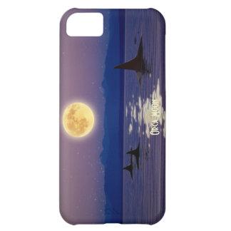 Killer Whales, Orca & Moon Art Cell Phone Case