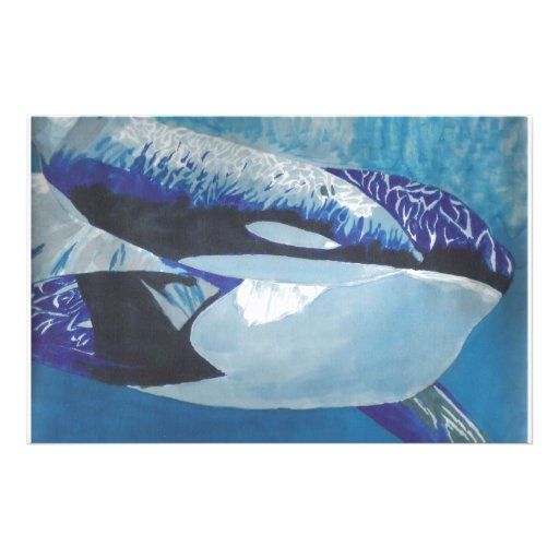 Killer Whales Personalized Stationery