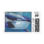 Killer Whales Postage Stamp
