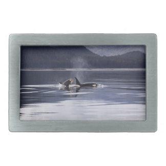 Killer Whales Rectangular Belt Buckle