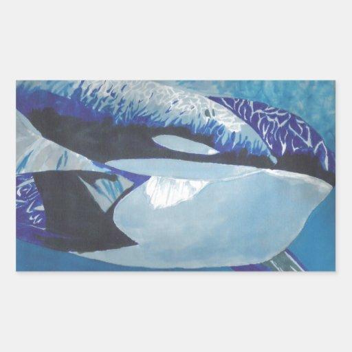Killer Whales Rectangular Sticker