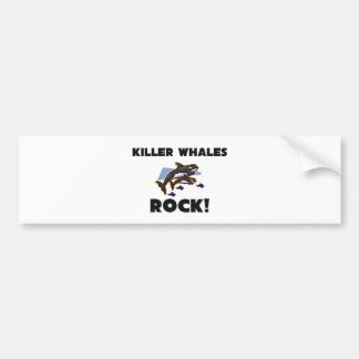 Killer Whales Rock Bumper Sticker