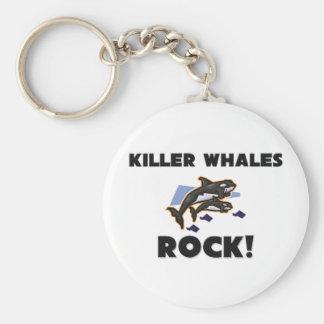 Killer Whales Rock Key Chain