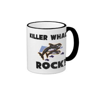 Killer Whales Rock Coffee Mugs