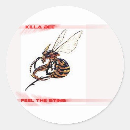 KillerBee Classic Round Sticker