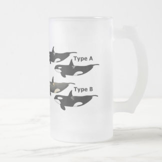 Killerwhale and Orcinus orca Frosted Glass Beer Mug