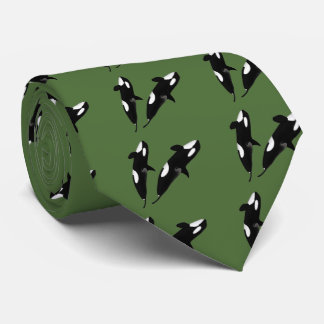 Killerwhale and Orcinus orca Neck Tie