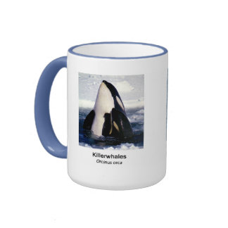 Killerwhale and Orcinus orca Ringer Mug
