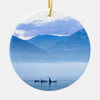 killerwhale of Vancouver Island Christmas Ornaments
