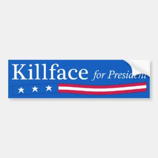 Killface for President Bumper Sticker Car Bumper Sticker