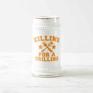 KILLING FOR A GRILLING BBQ design Beer Stein