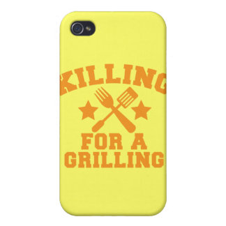 KILLING FOR A GRILLING BBQ design iPhone 4 Cover