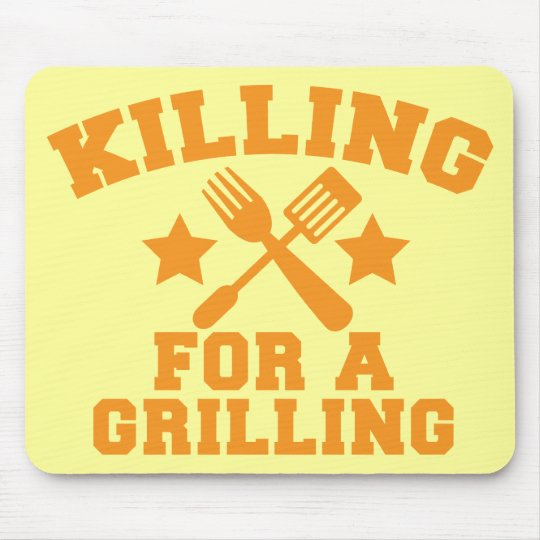 KILLING FOR A GRILLING BBQ design Mouse Pad