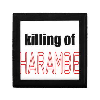 KILLING HARAMBE MEMORIAL SERVICE harambeismad inno Jewelry Box