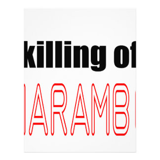 KILLING HARAMBE MEMORIAL SERVICE harambeismad inno Letterhead
