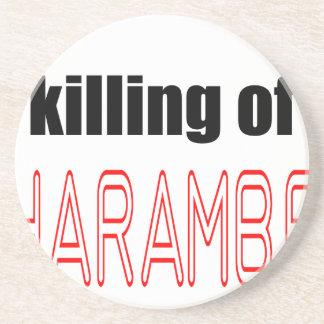 KILLING HARAMBE MEMORIAL SERVICE harambeismad inno Sandstone Coaster