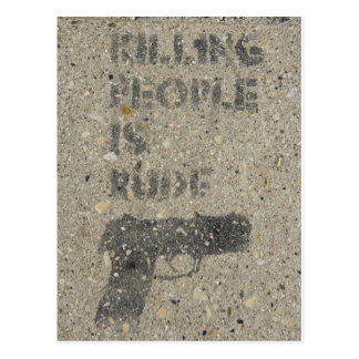 Killing People Is Rude Postcard