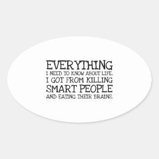 Killing Smart People Oval Sticker