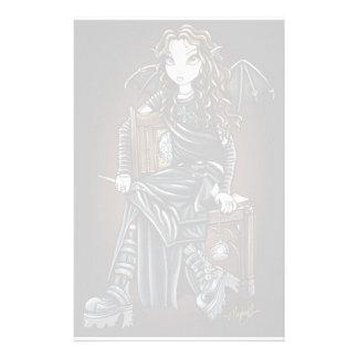 """Killing Time"" Gothic School Girl Fairy Stationery"