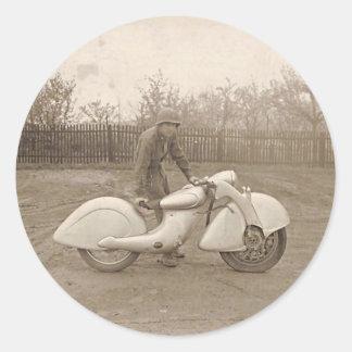 KILLINGER & FREUND MOTORCYCLE. CLASSIC ROUND STICKER