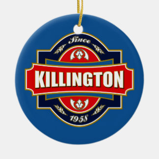 Killington Old Label Ceramic Ornament