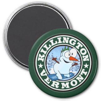 Killington Snowman Circle Magnets