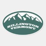 Killington Vermont Calcomanía Óval Personalizadas