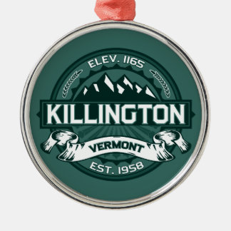 "Killington ""Vermont Green"" Metal Ornament"