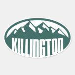 Killington Vermont Calcomanía De Óval Personalizadas
