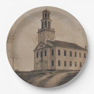 Killingworth Congregational Church Paper Plate