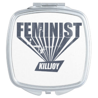 Killjoy de la feminista del vintage espejo para el bolso