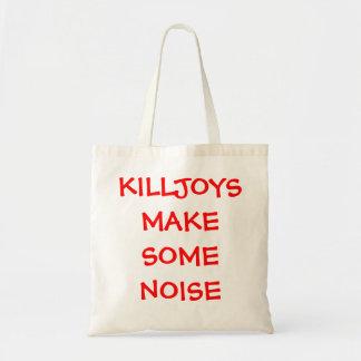 killjoys make some noise canvas bags
