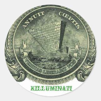 Killuminati Upside down Pyramid Sticker