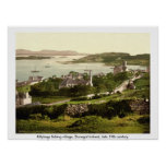 Killybegs Village, Vintage Donegal Ireland Poster