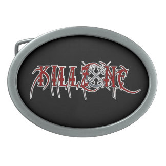 KILLZONE BAND LOGO oval belt buckle