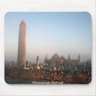 Kilmacduagh round tower mouse pad