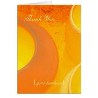 Kiln-fired ceramic pots cooling, Thank You Card
