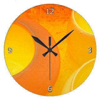 Kiln Firing Pots - Glowing Orange Heat Large Clock