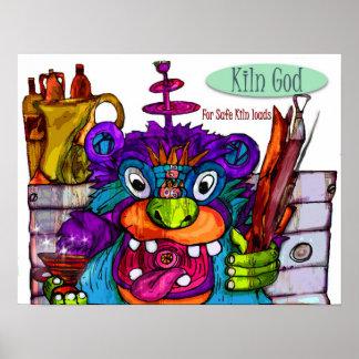 Kiln God for Safe Loads Poster
