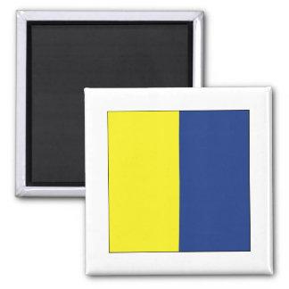 Kilo (K) Signal Flag 2 Inch Square Magnet