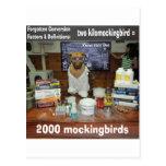 Kilomockingbird olvidado perro de la conversión de tarjeta postal