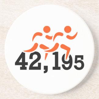 Kilomteres del maratón 42.195 posavasos manualidades
