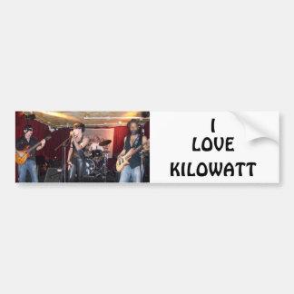 KILOWATT CAR BUMPER STICKER