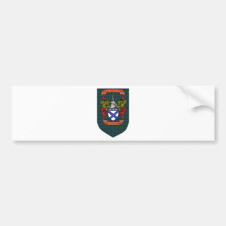 Kilpatrick crest on Colquhoun Blue-Green Tartan Bumper Sticker