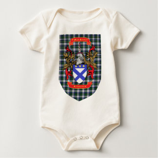 Kilpatrick Crest on Colquhoun Dress Tartan