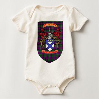 Kilpatrick crest on Colquhoun Purple Tartan Baby Bodysuit